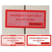 Emergency Exit Security Label Image